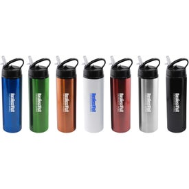 Stainless Steel Water Bottle with Flip Top Sport Lid (24 Oz.)
