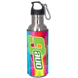 Stainless Steel Sport Bottle with DigiColor Sleeve