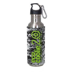 Stainless Steel Sport Bottle with Camo Eco Sleeve