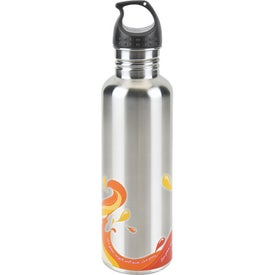 Imprinted Stainless Wave Water Bottle