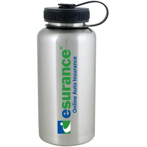 Stainless steel h2go wide water bottle 40 oz personalized water
