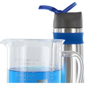 Steel Water Bottle with Silicone Band Giveaways