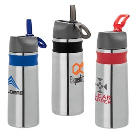 Steel Water Bottle with Silicone Band (25 Oz.)