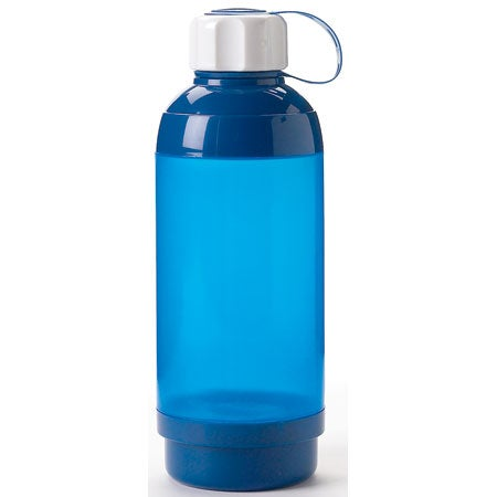 Straight Water Bottle With Pill Box 21 Oz