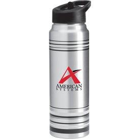 Branded Striped Aluminum Water Bottle