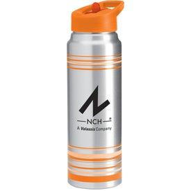 Striped Aluminum Water Bottle for Marketing