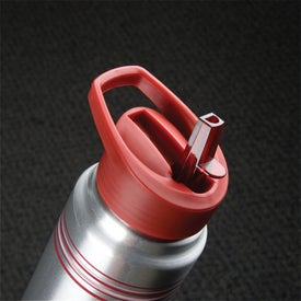 Striped Aluminum Water Bottle for Your Company