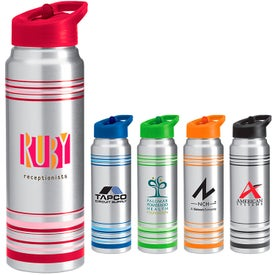 Striped Aluminum Water Bottle for Your Church