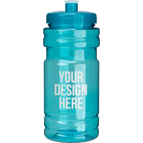 Translucent Aqua Surf Bottle with Push Pull Lid