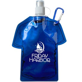 T Shirt Shaped Collapsible Water Bottle Branded with Your Logo
