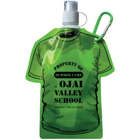 T Shirt Shaped Collapsible Water Bottle for Your Company