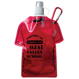 Monogrammed T Shirt Shaped Collapsible Water Bottle