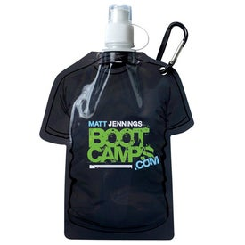 T Shirt Shaped Collapsible Water Bottle Imprinted with Your Logo