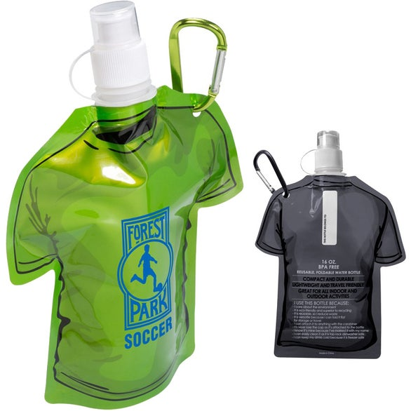 T Shirt Shaped Collapsible Water Bottle