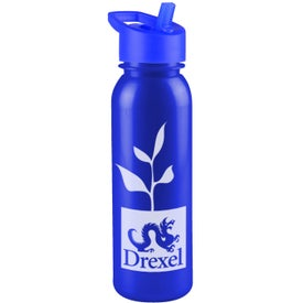 Personalized Terrain Metalike Bottle with Flip Straw Lid