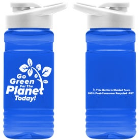 Recycled PETE Bottle with Drink Thru Lid (20 Oz.)