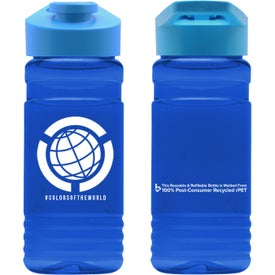 Recycled PETE Bottle with Drink Through Lid (20 Oz.)