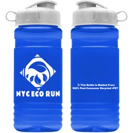 Recycled PETE Bottle with Flip Top Lid (18 Oz.)