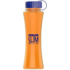 Curve Tritan Bottle with Tethered Lid for Customization