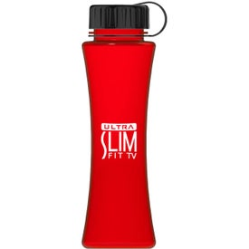 Curve Tritan Bottle with Tethered Lid Branded with Your Logo