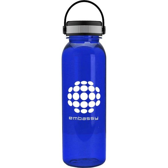 Translucent Blue Outdoorsman Tritan Bottle with EZ Grip Handle Lid