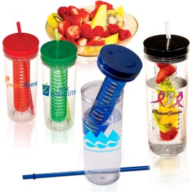 Imprinted Thirstinator Sipper with Infuser