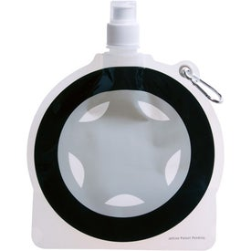 HydroPouch! Tire Collapsible Water Bottle for Advertising