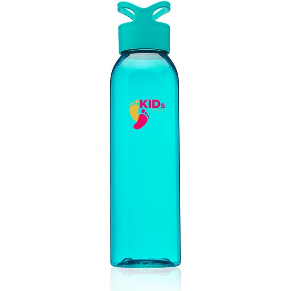Teal Trainer Plastic Water Bottle