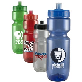 Translucent Bike Bottle with Push Pull Lid (22 Oz.)