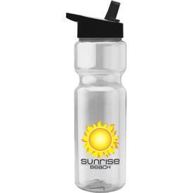 Translucent Bottles with Flip Straw Lid (28 Oz.)