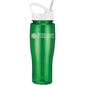 Translucent Contour Bike Bottle with Sport Sip Lid Branded with Your Logo