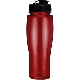 Translucent Contour Bottle With Flip Top Lid for Marketing