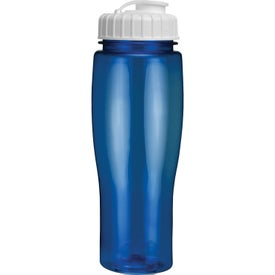 Branded Translucent Contour Bottle With Flip Top Lid