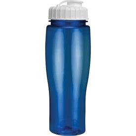 Branded Translucent Contour Bottle With Flip Top Lid