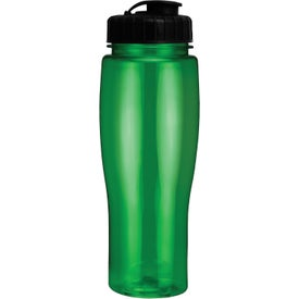 Translucent Contour Bottle With Flip Top Lid for your School