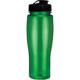 Translucent Contour Bottle With Flip Top Lid for your School