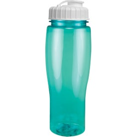 Translucent Contour Bottle With Flip Top Lid Giveaways