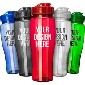 Translucent Contour Bottle With Flip Top Lid for Promotion