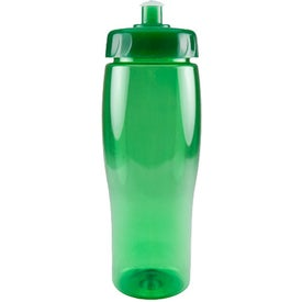 Promotional Translucent Contour Bottle with Push Pull Lid