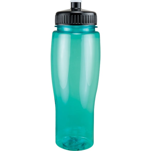 Translucent Aqua Translucent Contour Bottle with Push Pull Lid