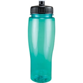 Customized Translucent Contour Bottle with Push Pull Lid