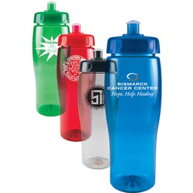 Translucent Contour Bottle with Push Pull Lid (24 Oz.)