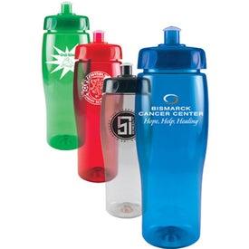 Translucent Contour Bottle with Push Pull Lid