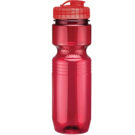 Translucent Jogger Bottle with Flip Top Lid with Your Logo
