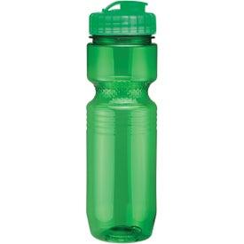 Printed Translucent Jogger Bottle with Flip Top Lid