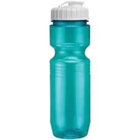 Custom Translucent Jogger Bottle with Flip Top Lid