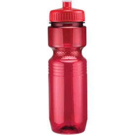 Monogrammed Translucent Jogger Bottle with Push Pull Lid