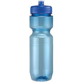 Promotional Translucent Jogger Bottle with Push Pull Lid