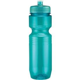 Custom Translucent Jogger Bottle with Push Pull Lid