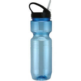 Translucent Jogger Bottle with Sport Sip Lid Printed with Your Logo